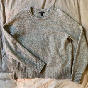 J. CREW | Classic Grey Wool Crew Neck Sweater Sz L
